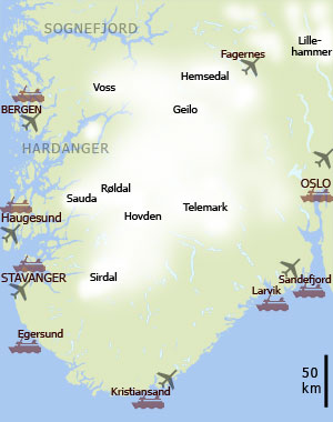 norway skiing map